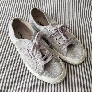 SUPERGA Light Grey Athletic Sneakers